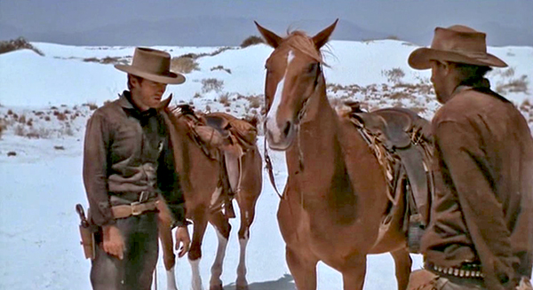 Clint Eastwood (left) at White Sands in the 1968 Movie Hang 'Em High