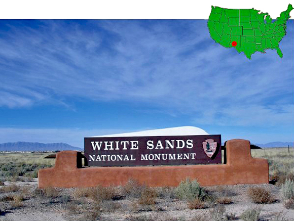 White Sands National Monument Entrance Marker